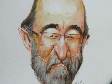 Caricature of Alex Angulo
