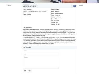 Job listings and Blog