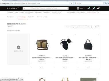 Ebay to Tradesy Product uploading