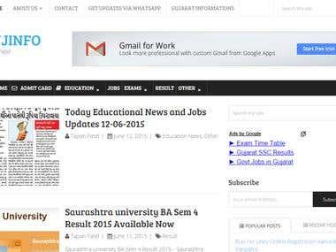 Gujinfo.com - Jobs - Recruitment - Exam - Result - News