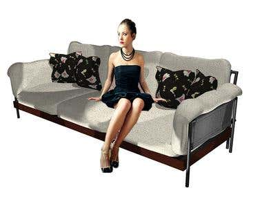 Couch design and illustartion
