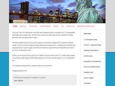 Acar Law Firm WordPress Website