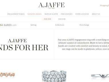 Fuly dynamic jewelry website.