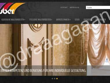 Website design of WordPress website for wall painter