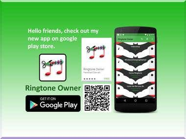 Ringtone Owner app Logo and Promo Graphics