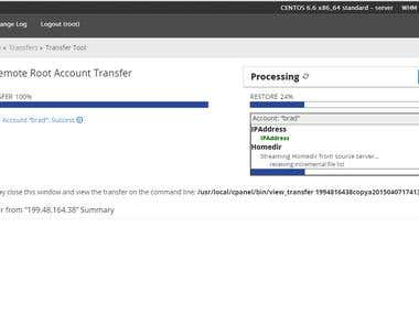cPanel/WHM Transfer