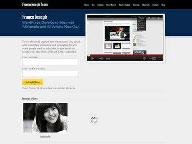 Website for Franco Joseph Team