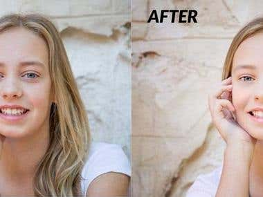 Photo retouching and photo editing