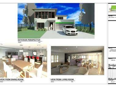TWO STOREY MODERN MINIMALIST HOUSE