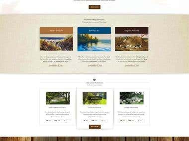 Design a template for a website.