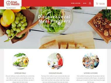 True Meals (WordPress | PHP | JQuery | CSS | Google Map )