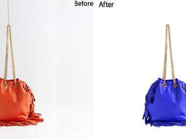 I will change the product color and color correction