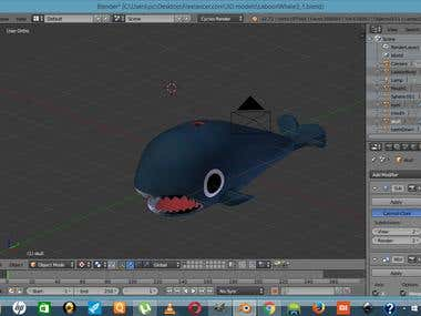 3D Modelling: Laboon for a One Piece Project