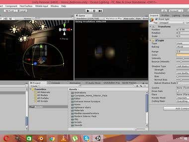 Lighting of Horror House in Unity 3D: Oculus Rift Project