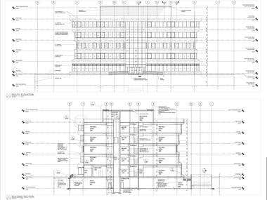 BUILDING ELEVATION & SECTION