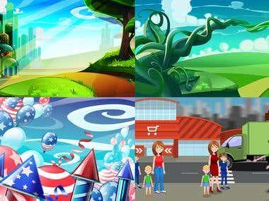 2D Backgrounds