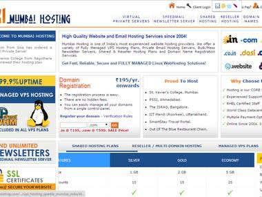 web hosting company website