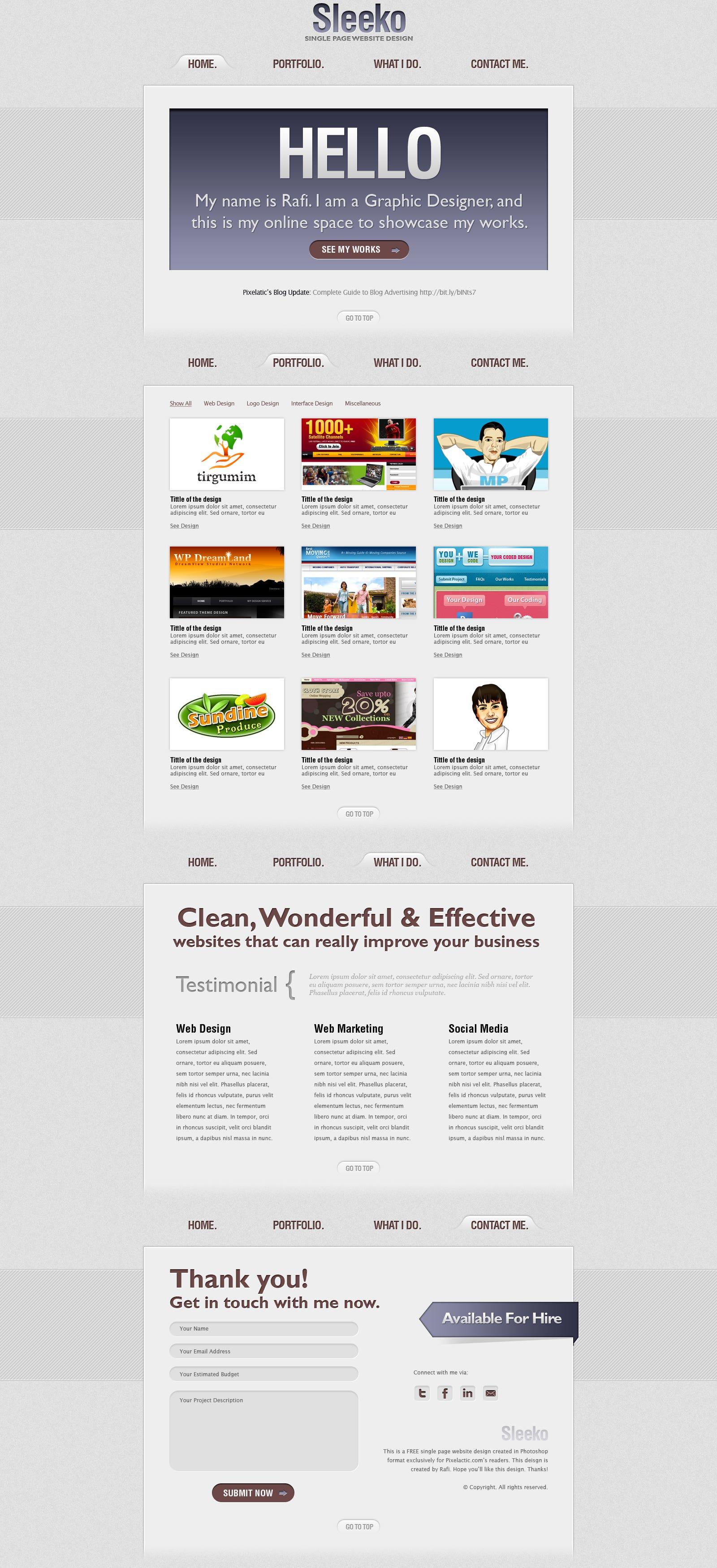 PSD TO HTML Full responsive