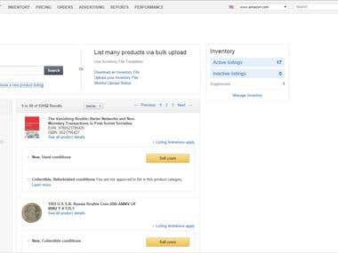 Adding Inventory to Amazon (Seller Central)