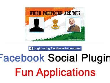 Fun application using fb social plugins