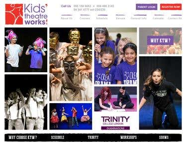 Kids\' Theatre Works Website