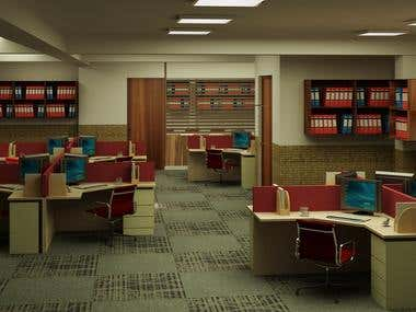 Office design and 3D visualization