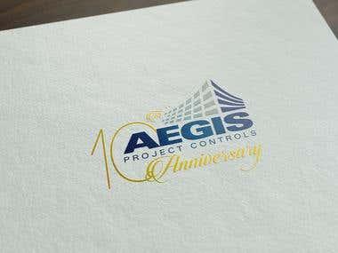 Aegis 10th Anniversary Logo