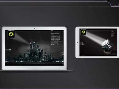 Website for Articom Creative Combinat