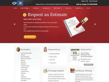 D&E Printing website