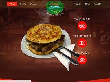 Website design and development for local Restaurant
