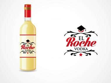 Logo Design for El Roche Vodka