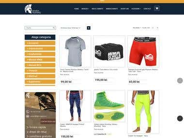 Online shop - sporting goods
