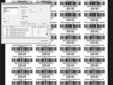 Generador de codigo de barras -Unicenta y para otro tipo POS