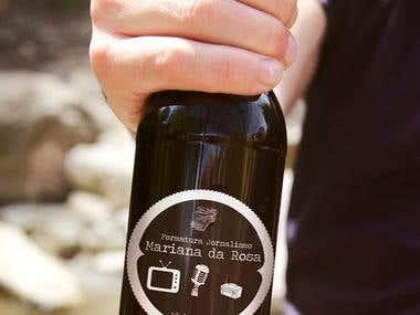 Rótulo de garrafa comemorativo