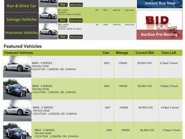 Car Auction Site