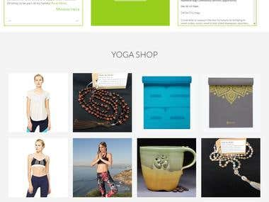 wordpress (cms)based responsive Yoga website.