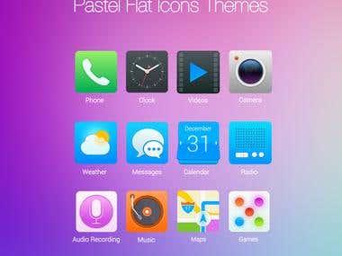 pastel icons app ui