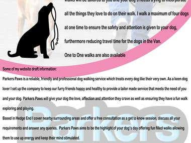 Design a Poster for a new local dog walking company