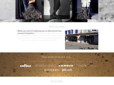 Showcase website for high-end ready-to-wear shop