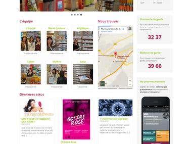 Website for a pharmacy