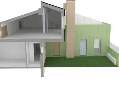 Redevelopment of a former worker house