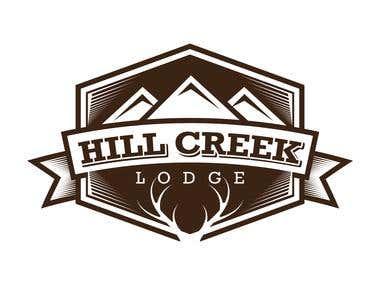Hill Creek Lodge Logo Design