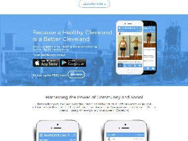 Shape Up Cleveland - CodeIgnitor Custom Website