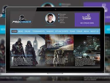Gamer Website Mockup