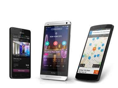 Mobile App Design and Mockup