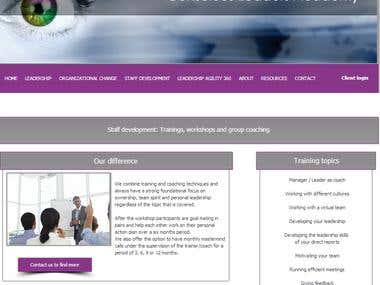 Merging two wix websites  http://www.conscious-leaders-acade