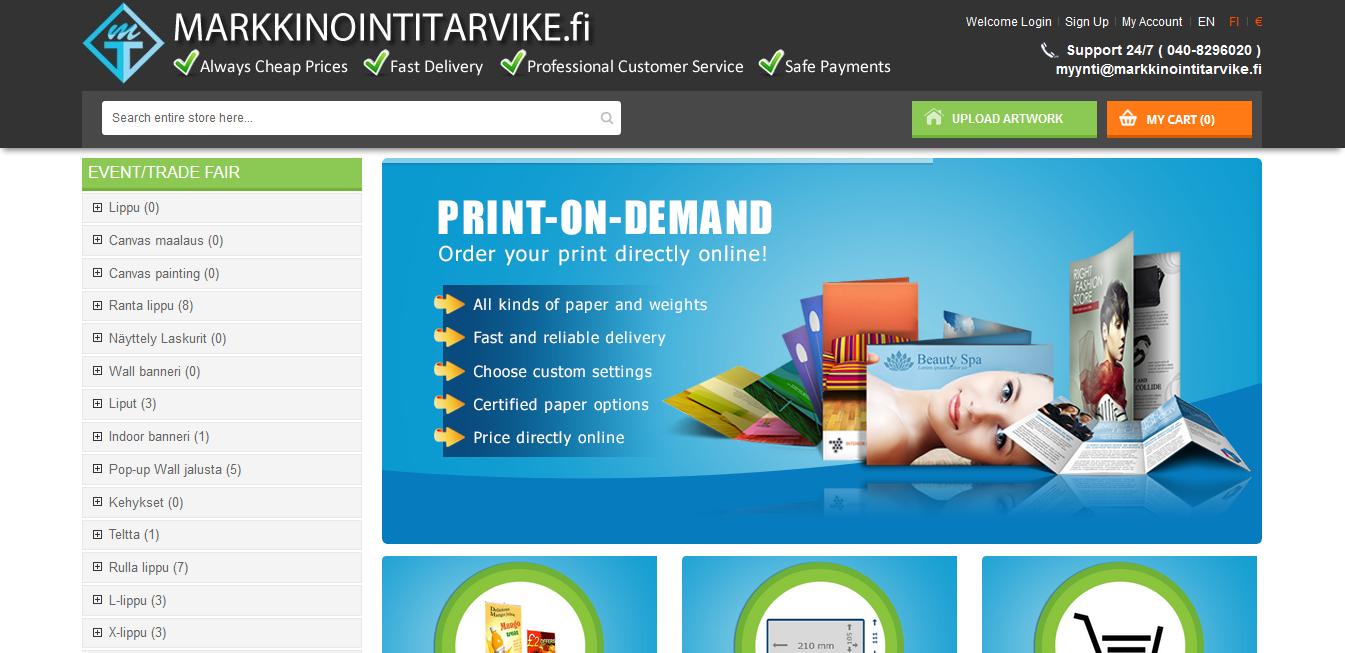 Markkinointitarvike (Printing Store)