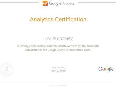 Analytics Certificate