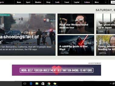 Clone of BBC website