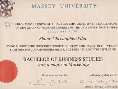 BBS Degree (Marketing)